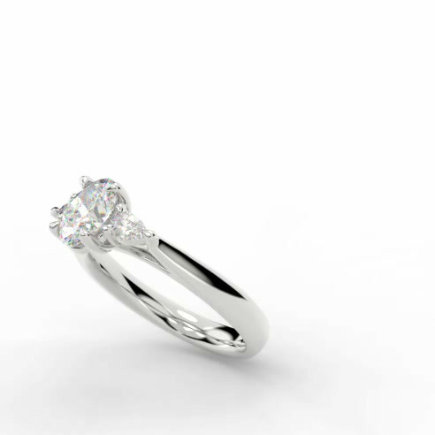 Platinum Trilogy ring