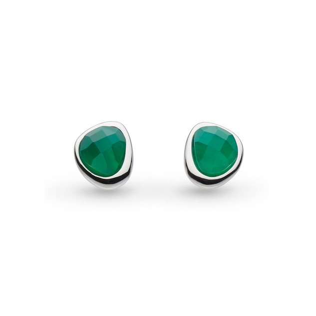 Coast Pebble Green Agate Mini Stud Earrings Sterling Silver Product code 3184GA  £45.00 NOW WITH 25% OFF £33.75