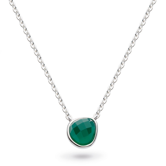 "Coast Pebble Green Agate Mini 17"" Necklace Sterling Silver Product code 9184GA  £58.00 NOW WITH 25% OFF £43.50"