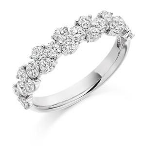 Platinum 1.20 carat eternity ring 1B798 £3150