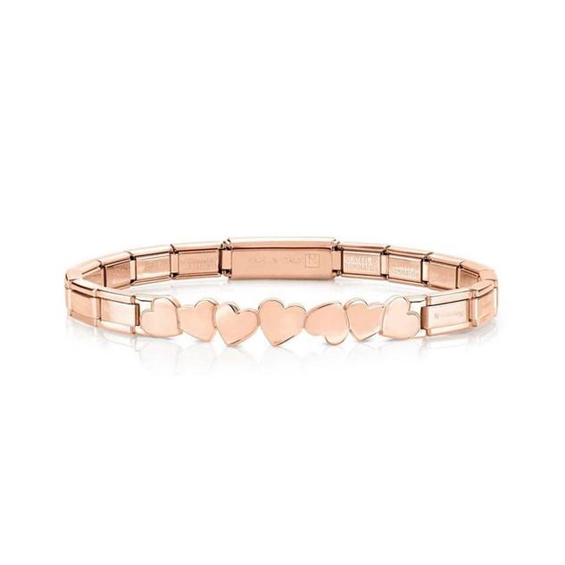 Nomination Trendsetter Rose Gold Hearts Bracelet 021111/002 £50.00