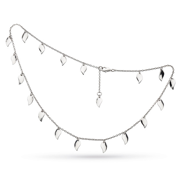 Enchanted Scatter Leaf Station Necklace Sterling Silver Product code 90023  £140.00