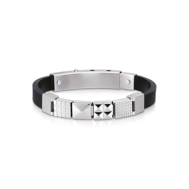 Gents Ikons Composable Rubber Classic Link Stainless Steel Code: 239019/20 £100.00