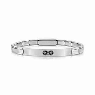 Nomination Trendsetter Stainless Steel & Black Cubic Zirconia Infinity Bracelet 021134/024 £39.00