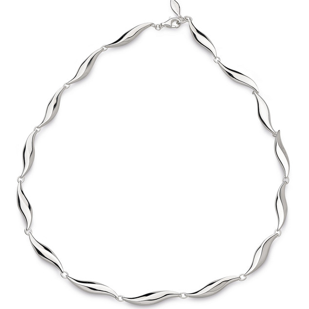 Bevel Edge Link Necklace Sterling Silver Product code 9191  £265.00