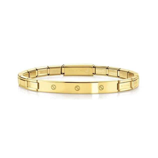 Unisex Trendsetter Yellow Gold Screws Smarty Bracelet 021115/012 Product Code: 021115/012 £50.00