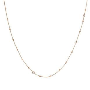 Bella Cubic Zirconia Long Rose Gold Necklace 142623/011 £78.00