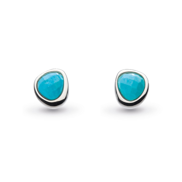 Coast Pebble Reconstituted Turquoise Mini Stud Earrings Sterling Silver Product code 3184TQ  £45.00 NOW WITH 25% OFF £33.75