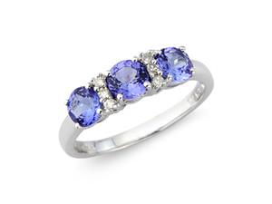 Tanzanite & Diamond White Gold Ring £550