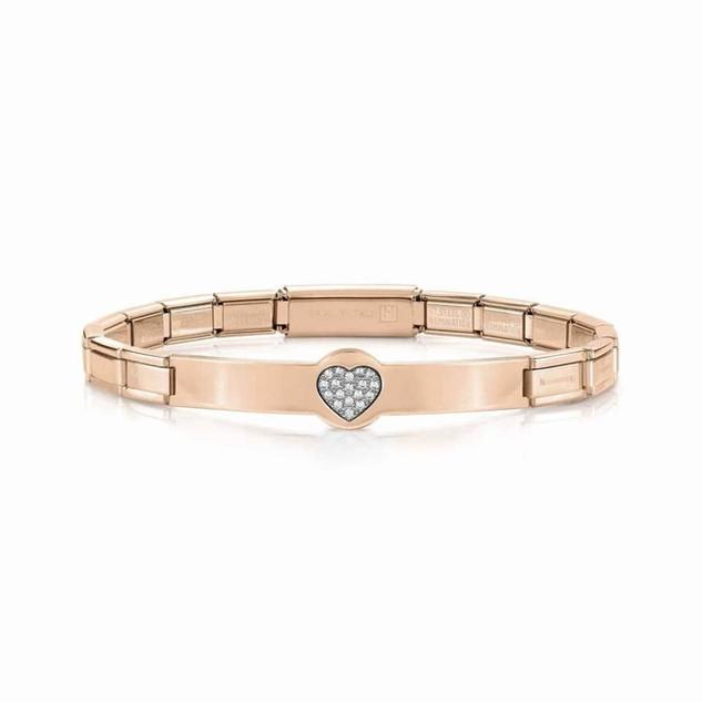 Nomination Trendsetter Rose Gold PVD & Cubic Zirconia Heart Bracelet 021135/022 £59.00
