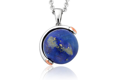 Globe Journey Pendant Sterling Silver and 9ct gold. 3SJRLGP £189