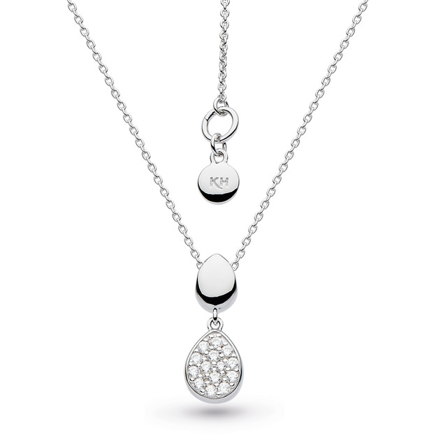 Coast Pebble Glisten Necklace Rhodium Plated Sterling Silver Product code 90188CZ  £70.00