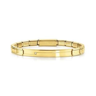 Unisex Trendsetter Yellow Gold & CZ Smarty Bracelet 021117/012 Product Code: 021117/012 £55.00
