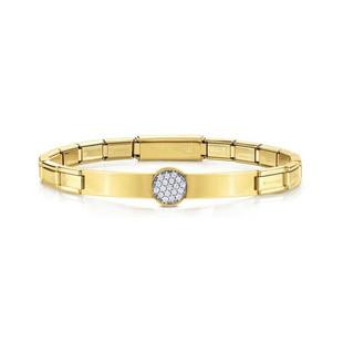 Nomination Trendsetter Cubic Zirconia Yellow Gold Bracelet 021121/021 £59.00