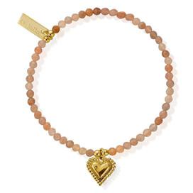 ChloBo Cherabella Gold Plated Moonstone Heart Bracelet £70 NOW HALF PRICE £35
