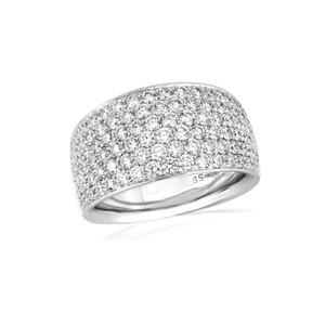 18ct White gold diamond pave ring.