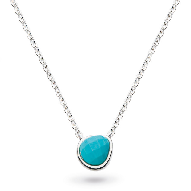 Coast Pebble Turquoise (Recon)Mini Necklace Sterling Silver Product code 9184TQ  £58.00 NOW WITH 25% OFF £43.50