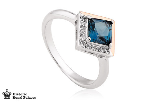 Kensington Love Story Ring. Sterling Silver and 9ct gold. 3SVAR £189
