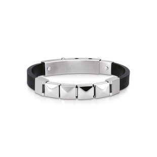Gents Ikons Composable Rubber Classic Link Stainless Steel Code: 239018/20 £100.00