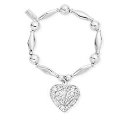 Chunky Filigree Heart Bracelet