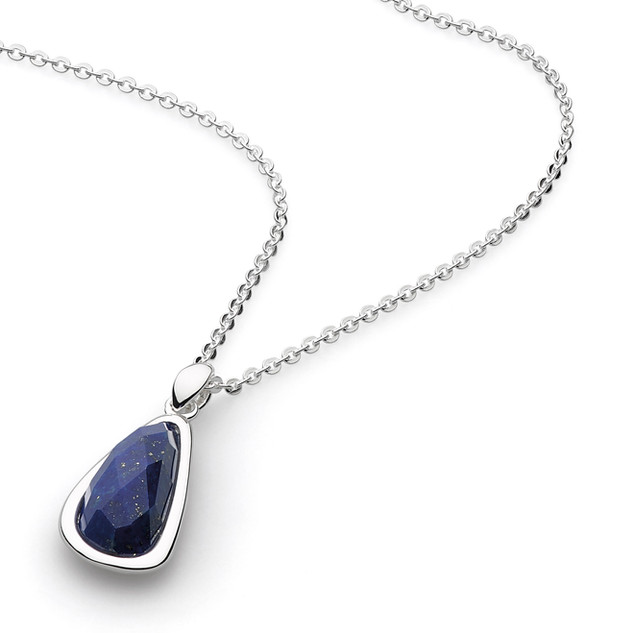 Coast Pebble Lapis Lazuli Necklace Sterling Silver Product code 9179LP  £78.00