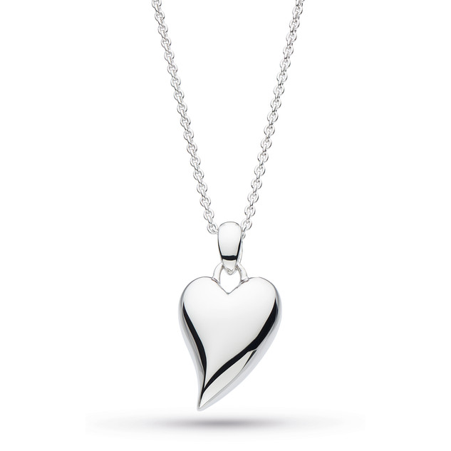 Desire Lust Heart Necklace Rhodium Plated Sterling Silver £72