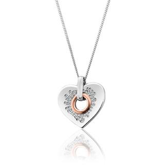 3SCCP01 Cariad Sparkle Heart Pendant £199