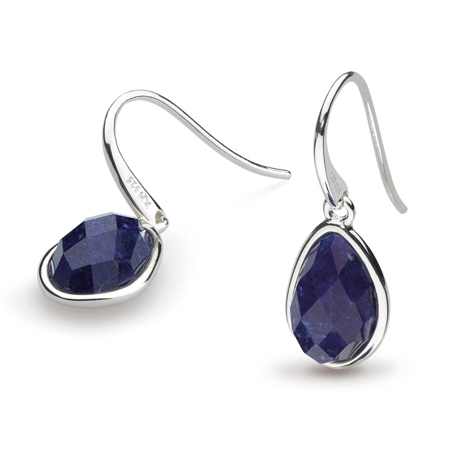 Coast Pebble Lapis Lazuli Drop Earrings Sterling Silver Product code 5180LP  £70.00