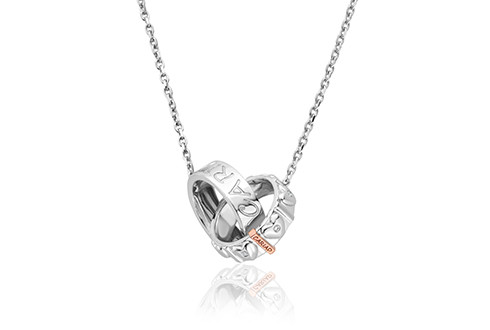 3SCARDBP Embedded with sparkling white topaz the interlocking sterling silver and 9ct rose gold circles embedded with white topaz and carefully inscribed with the word 'Cariad' representing the connection and love we share with significant others, family and friends. Elegantly combining a contemporary interpretation with the iconic timeless Cariad® design this sublime necklace is a beautiful addition to our Cariad® collection. Perfect for both every day or formal wear, to compliment any outfit, the Cariad® Links Necklace contains rare Welsh gold – the gold of Royalty since 1911 £179
