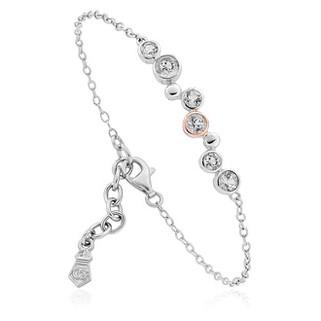 Clogau® Celebration Bracele Sterling Silver and 9ct gold. 3SMB2 £139