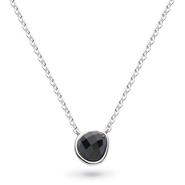 "Coast Pebble Black Agate Mini 17"" Necklace Sterling Silver Product code 9184BA  £58.00 NOW WITH 25% off £43.50"