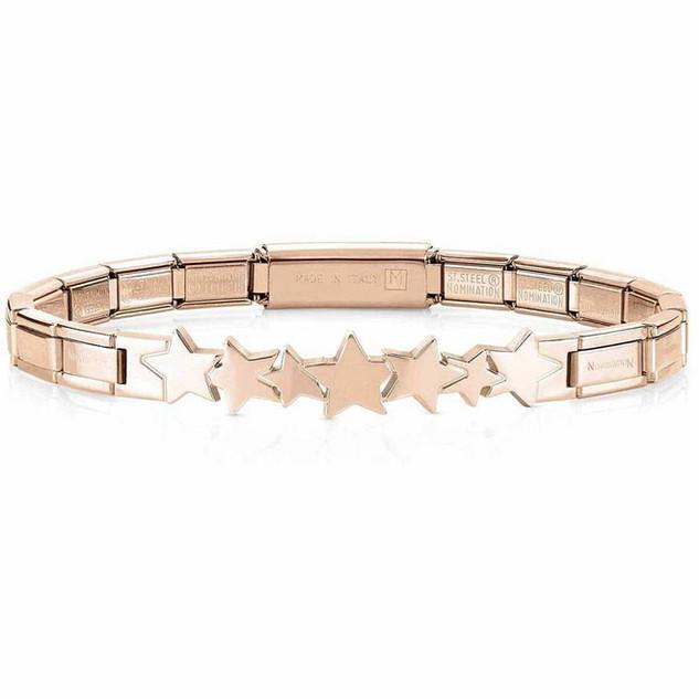 Nomination Trendsetter Rose Gold Star Bracelet 021111/006 £50.00