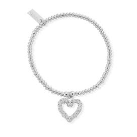 Mini Disc Flower Heart Bracelet - SALE 50% OFF