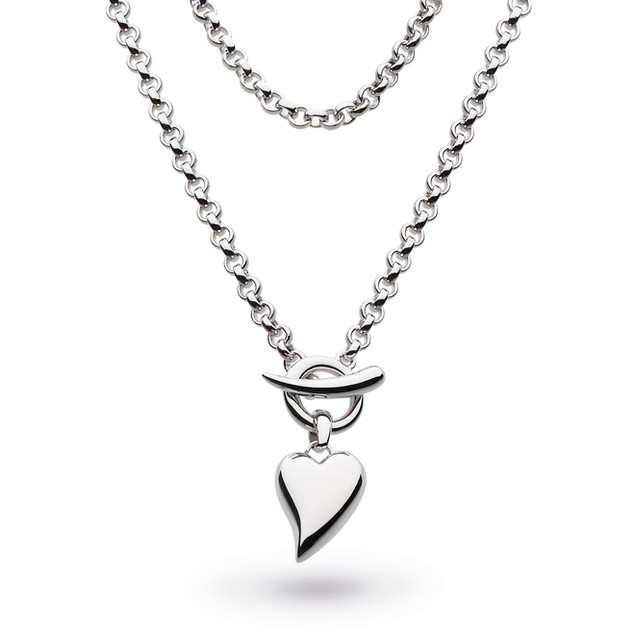 Desire Lavish Lust Heart T-bar Necklace Sterling Silver Product code 90KT  £175.00