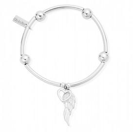 ChloBo Noodle Ball Open Heart & Angel Wing Bracelet - SOLD