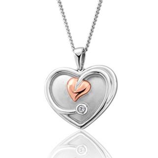 3STLDP Tree of Life White Topaz Heart Pendant £169