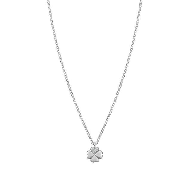 Gioie Cubic Zirconia Four Leaf Clover Necklace 146201/002 £48.00