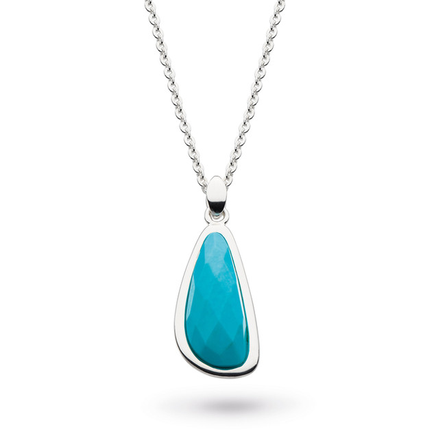 Coast Pebble Turquoise (Recon)Necklace Sterling Silver Product code 9179TQ  £78.00 NOW WITH 25% OFF £58.50