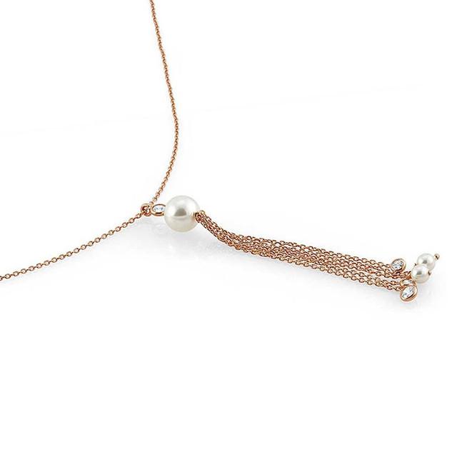 Nomination Bella Rose Gold Pearl Tassel Necklace 142661/011 £69.00