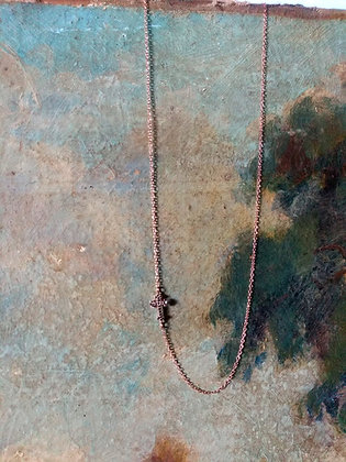 Collier Croix diamants noirs