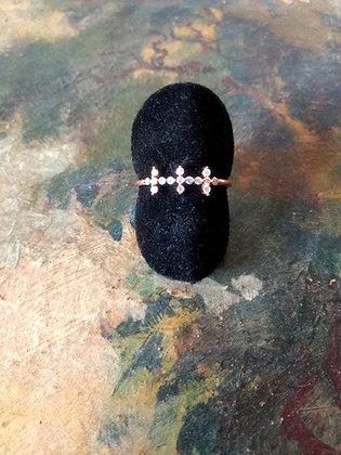 Bague Triple Croix Diamants