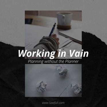 Working in Vain: Planning without the Planner