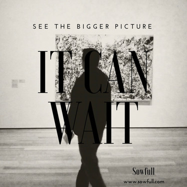 See the Bigger Picture- It Can Wait