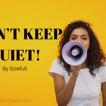 I CAN'T KEEP QUIET!