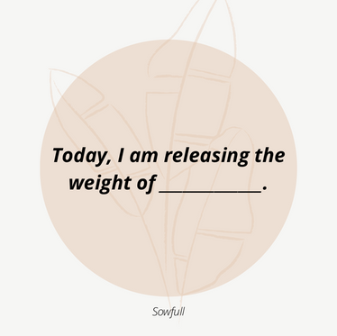 Today, I Am Releasing _____.
