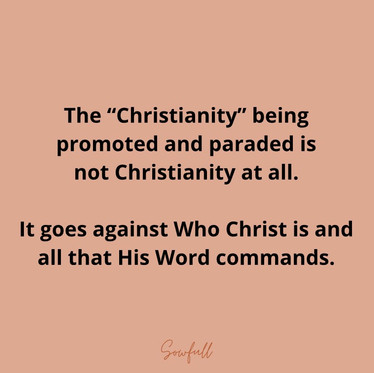 The Christianity Being Paraded
