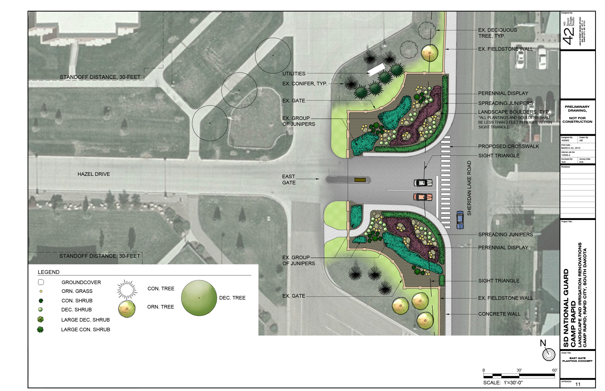 East Gate Planting Concept