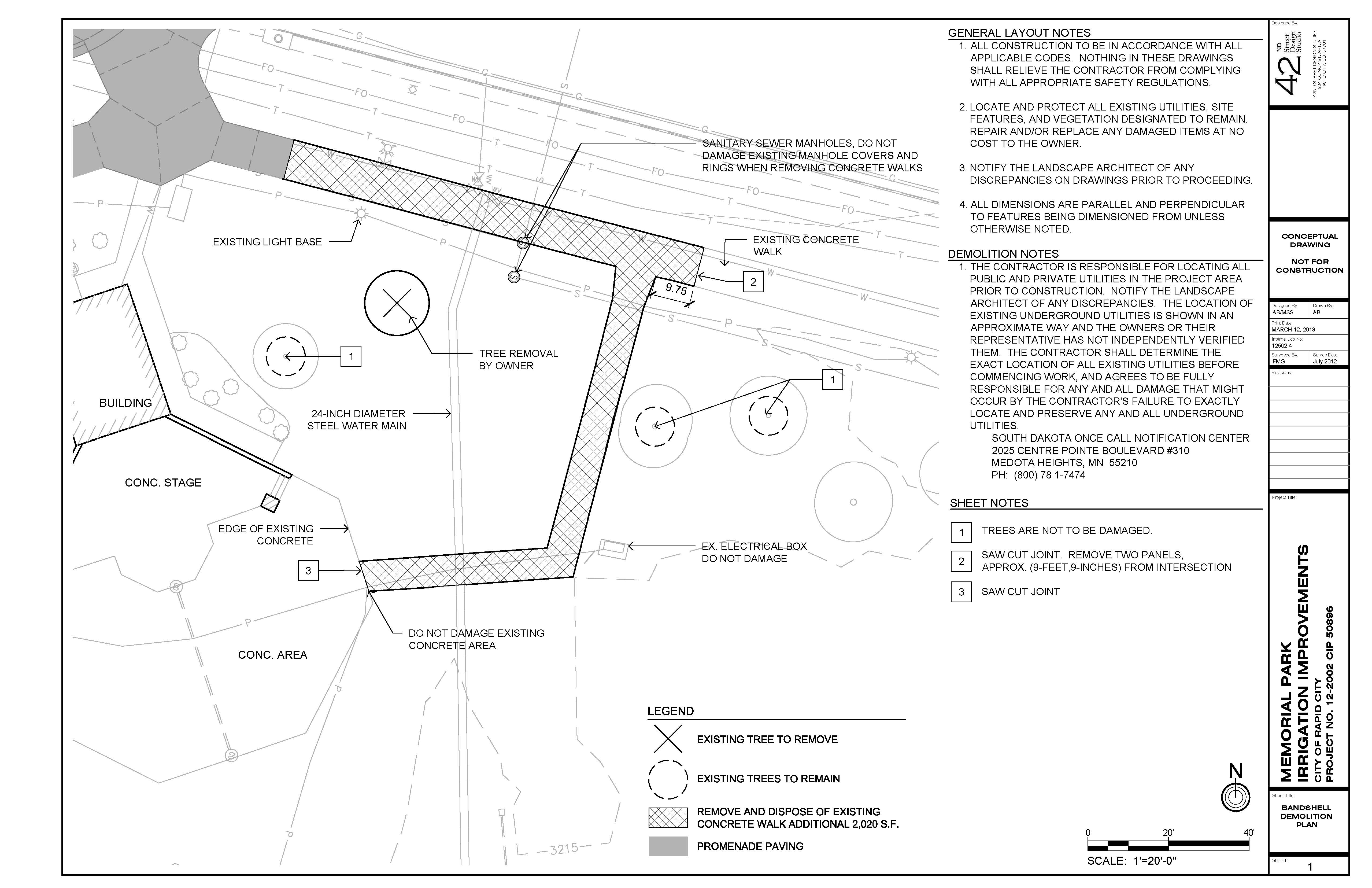 Bandshell Demolition Plan
