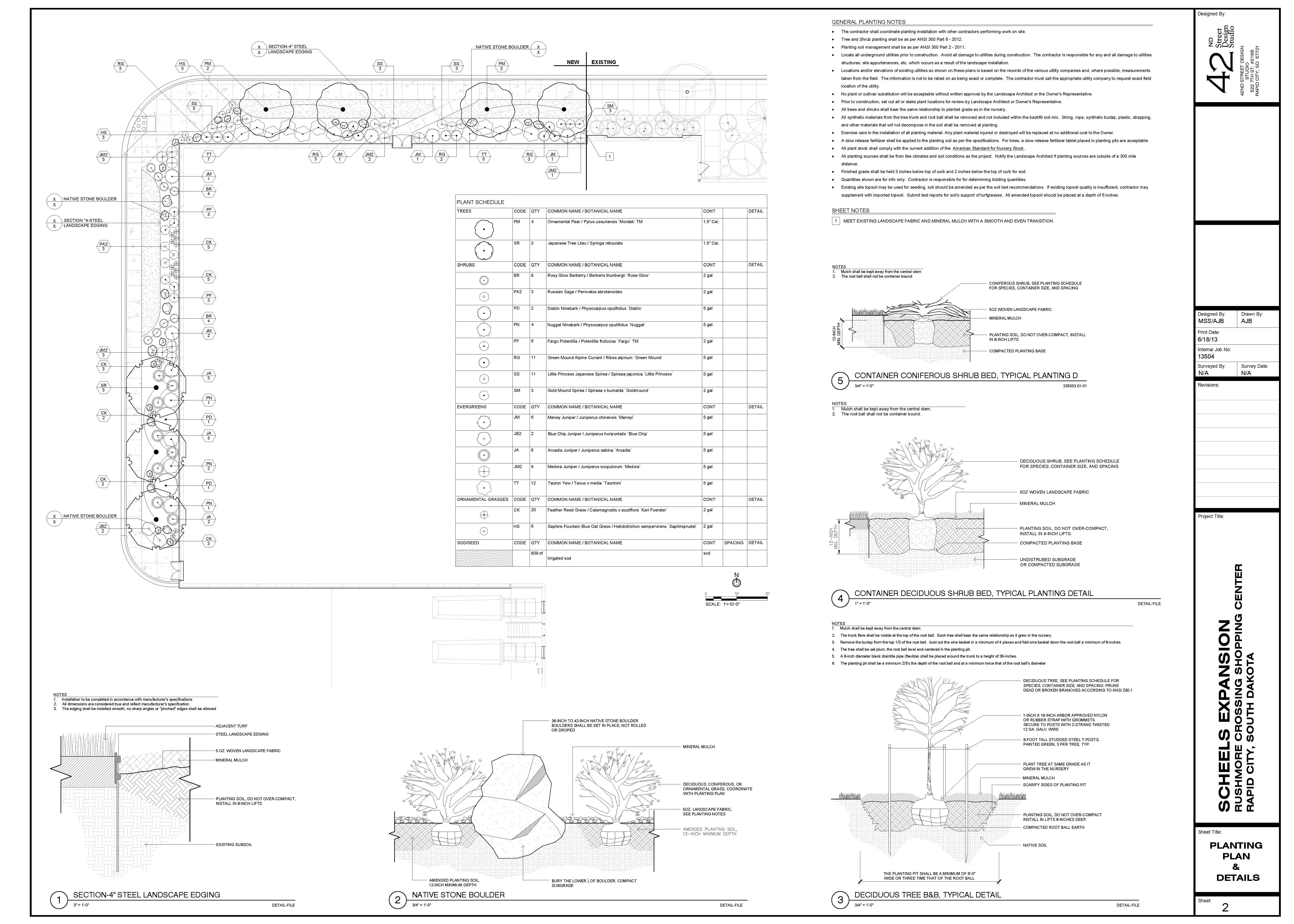 Planting Details