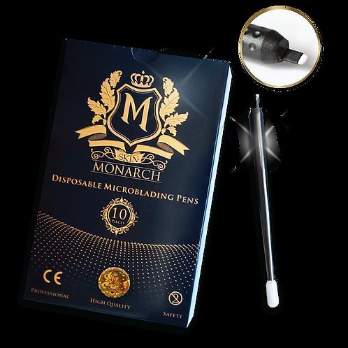 Skin Monarch jednorazové Microblading pero - U18 Eccentric, 1balenie/ 10ks